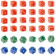 Colored Dice - Stock Vector