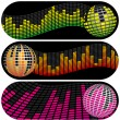 Stock Vector: Three Disco Music Banners