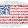 American Flag within a fingerprint - Stock Vector