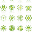 Sixteen Flower Icons — Stock Vector