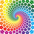 Colorful Flower Spiral Background — Stock Vector