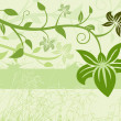 Royalty-Free Stock Vector Image: Green Floral Background