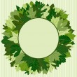 Green Leaf Wreath — Stock Vector