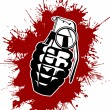 Stock Vector: Grenade with splattered blood
