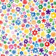 Colorful Grungy Flower Background — 图库矢量图片