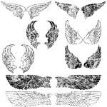 Grunge Angel Wings — Stock Vector
