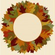 Stock Vector: Autumn Leaf Wreath
