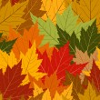 Royalty-Free Stock Vector Image: Fall maple leaf seamless repeating background