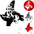 Detailed Map of Nunavut, Canada — Stock Vector
