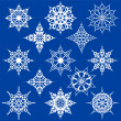 Various Ornate Snowflakes - Stock Vector