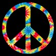 Vector de stock : Tie Dyed Peace Symbol