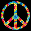 Tie Dyed Peace Symbol — Stockvectorbeeld