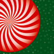 Peppermint Candy Christmas Background - Stock Vector
