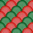Red and Green Peppermint Background — Stock Vector