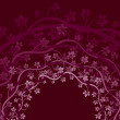 Purple Vines Background - Stock Vector