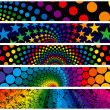 Royalty-Free Stock Vector Image: Rainbow Web Banners