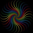 Rainbow Spiral — Stock Vector