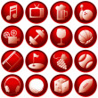 Royalty-Free Stock Vector Image: Recreation Icon Buttons