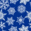 Seamless Repeating Snowflake Background — Stock Vector