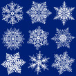 Stock Vector: Nine Fabulous Original Snowflakes