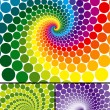 Stock Vector: Rainbow swirl with color variations