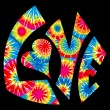 Tie Dyed Love Symbol — Vector de stock #8996625