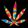 Stockvektor : Tie Dyed Pot Leaf
