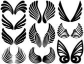 Stylized Angel Wings — Stock Vector