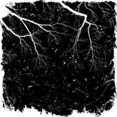 Grunge Background with Branches — Stok Vektör