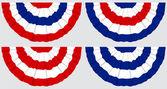Four Flag Buntings — Stock Vector
