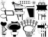 Nine Retro Advertising Signs — Stock Vector