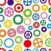 Arrière-plan coloré cog — Vecteur