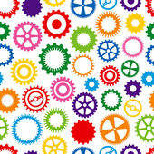 Colorful Cog Background — Vettoriale Stock