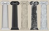 Five Columns — Stock Vector