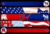 Election Web Banners — Stock Vector