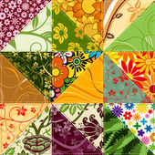 Flower Patchwork — Stock Vector
