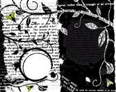 Mosca y texto grunge — Vector de stock