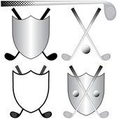 Golfing Logos — Stock Vector