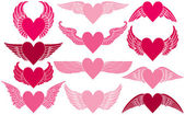 Hearts with Wings — Stock Vector