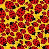 Seamless Repeating Ladybug Pattern — Stock Vector