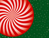 Peppermint Candy Christmas Background — Stock Vector