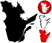 加拿大魁北克的详细的地图, — 图库矢量图片