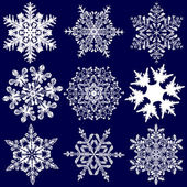 Nine More Fabulous Original Snowflakes — Vettoriale Stock
