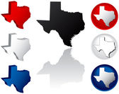 State of Texas Icons — Stock Vector