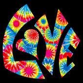 Tie Dyed Love Symbol — Stock Vector
