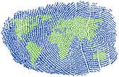 World Fingerprint — Stock Vector