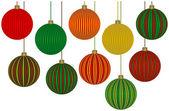 Ten Fabulous Christmas Ornaments — Stock Vector