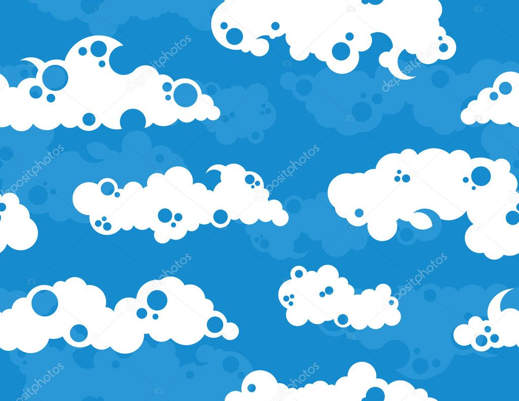 White Clouds on a Blue Sky Background — Stock Vector #8995830