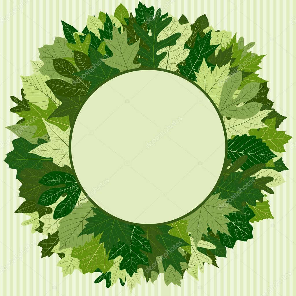Green Leaf Wreath — Stock Vector #8996115
