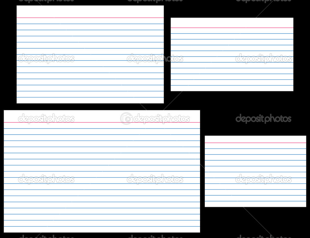 Index cards stock vector adroach 8996232 for 5 x 8 index card template